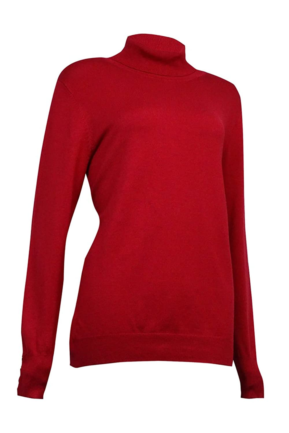 Charter Club Womens Ribbed Knit Turtleneck Pullover Top