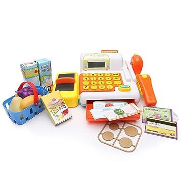 Wishtime supermercado Kitset caja registradora de juguete para niños comprar hasta el juego de rol