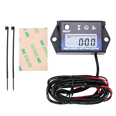 Digital Tach Maintenance Hour Meter Tachometer RPM for Lawn Mower Generator Boat Outboard ATV UTV Motorcycle Motocross Dirt Bike.: Automotive