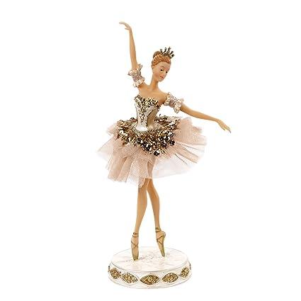 Decorazioni Natalizie Ballerine.Goodwill Ballerina Rosa E Rame In Tulle Resina E Tessuto