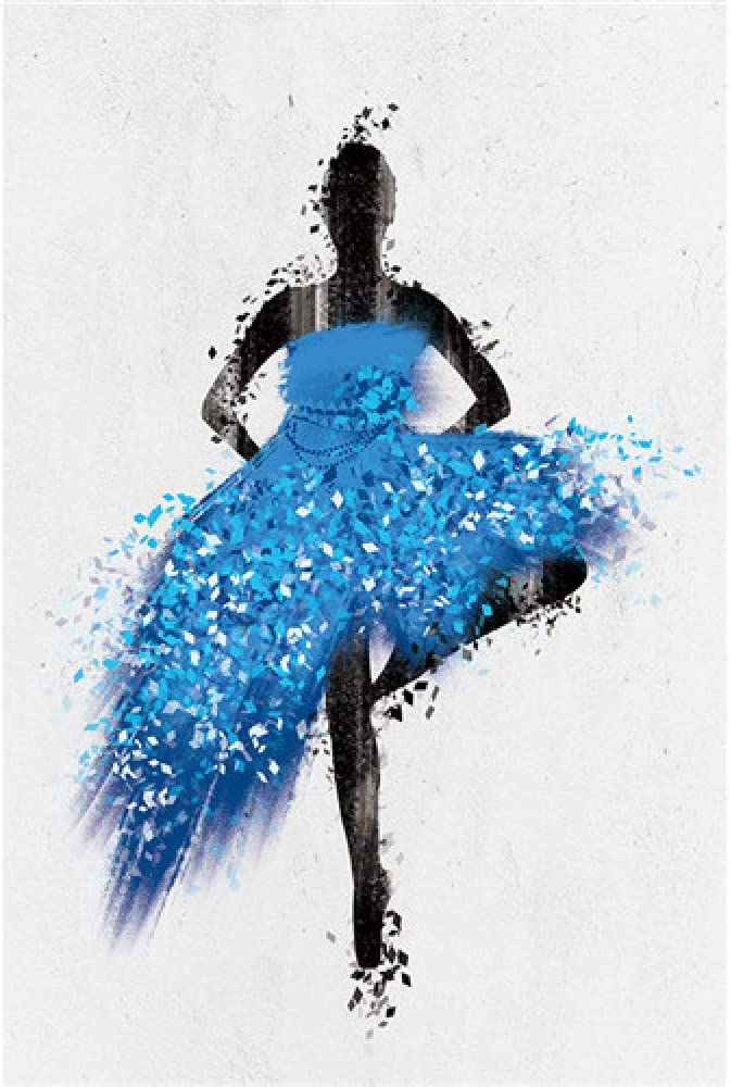 Geiqianjiumai Elegante Bailarina niña Acuarela Abstracta Minimalista Pared Arte Cartel impresión: Amazon.es: Hogar
