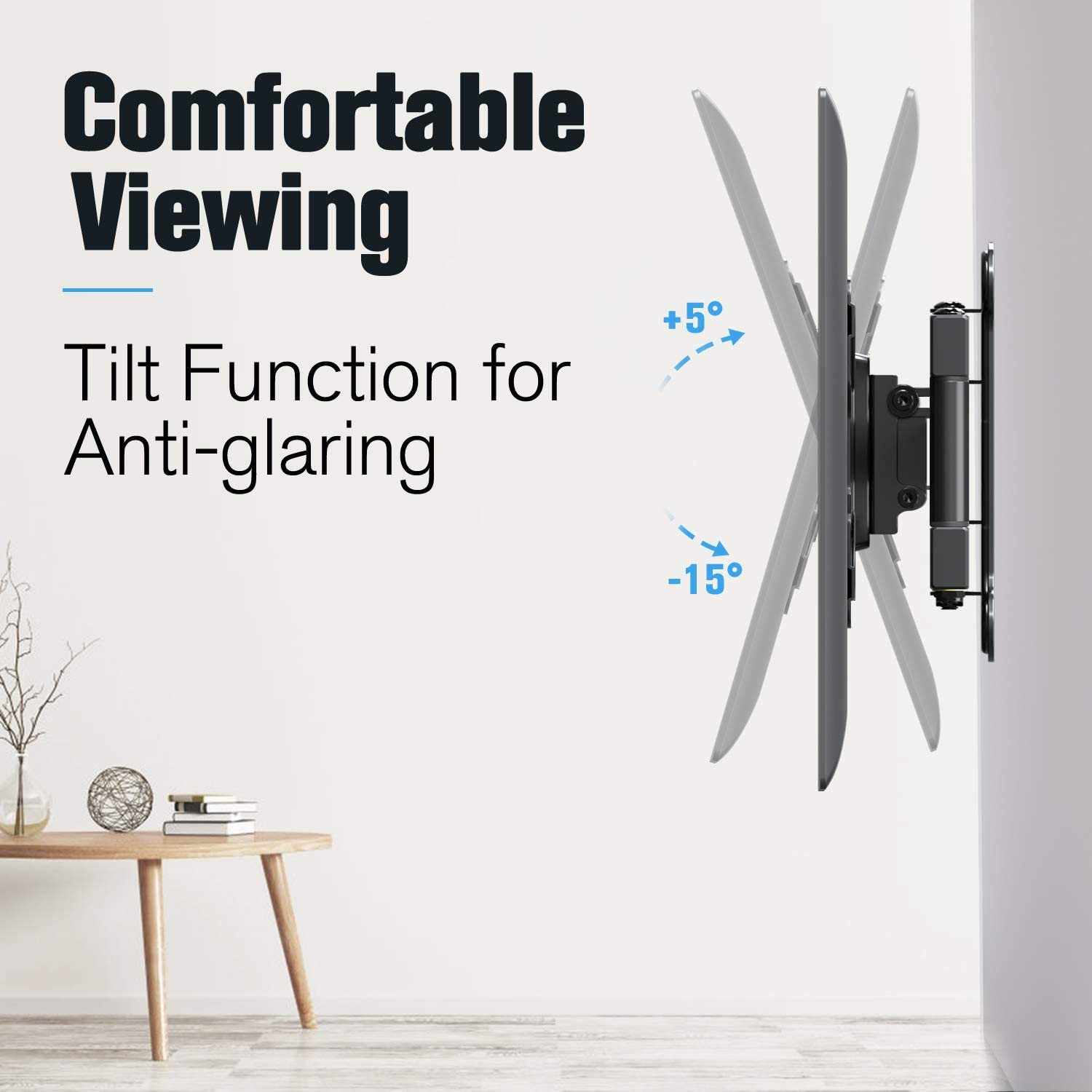 Mounting Dream Full Motion TV Wall Mounts for Most 17-39 Inch LED, LCD TVs up to VESA 200 x 200mm and 60 LBS Loading Capacity, TV Bracket with Articulating Arms Perfect Center Design