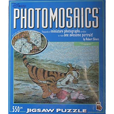 Disney Photomosaics Tigger 550 Pieces Jigsaw Puzzle By Bv Leisure