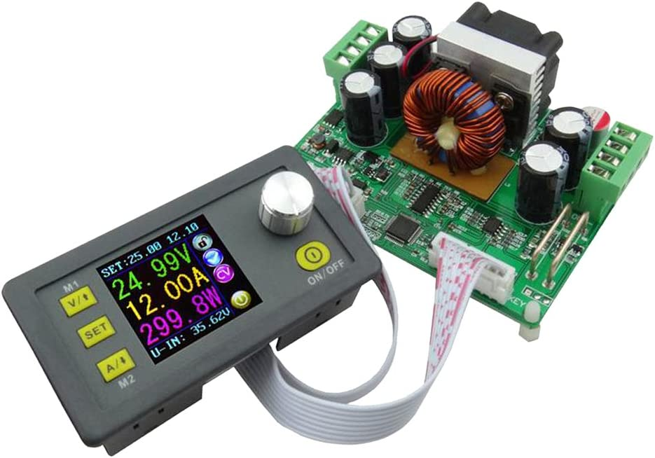 MagiDeal Module dalimentation Communication Abaisseur Tension Programmable R/églable Affichage LCD DPS3012 DC32V 12A