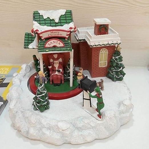 SPFAZJ Navidad Caja Musical Navidad esquí Tienda Lujo Caja de música Creativo Regalo de la Navidad de la Caja de música de cámara esquí: Amazon.es: Jardín