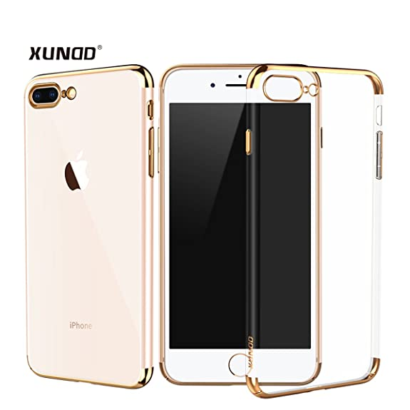 IPhone 8 Plus Clear Case XUNDD Shockproof Anti Scratching PC Protective Hard Back