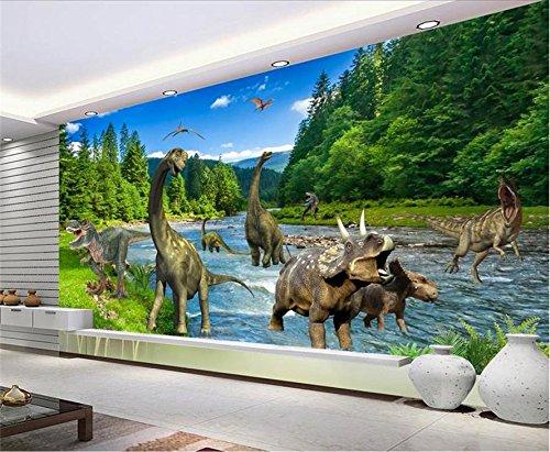 Yosot Custom 3D Vliestapeten Tv-Kulisse Wandbilder Jura Dinosaurier 3D Home Dekoration-200Cmx140Cm B07D8WDBST Wandtattoos & Wandbilder