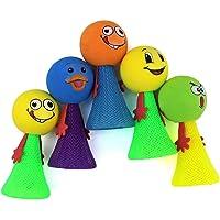Birthday Popper Set of 20 Smiley Emoji Jump Toy (9x4.5cm, Multicolour)
