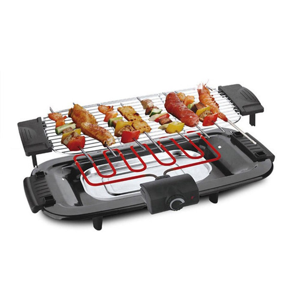QIANDING SKJ Barbecue Home Electric Grill Smokeless Non-Stick Pan 600365113mm Barbecue by QIANDING