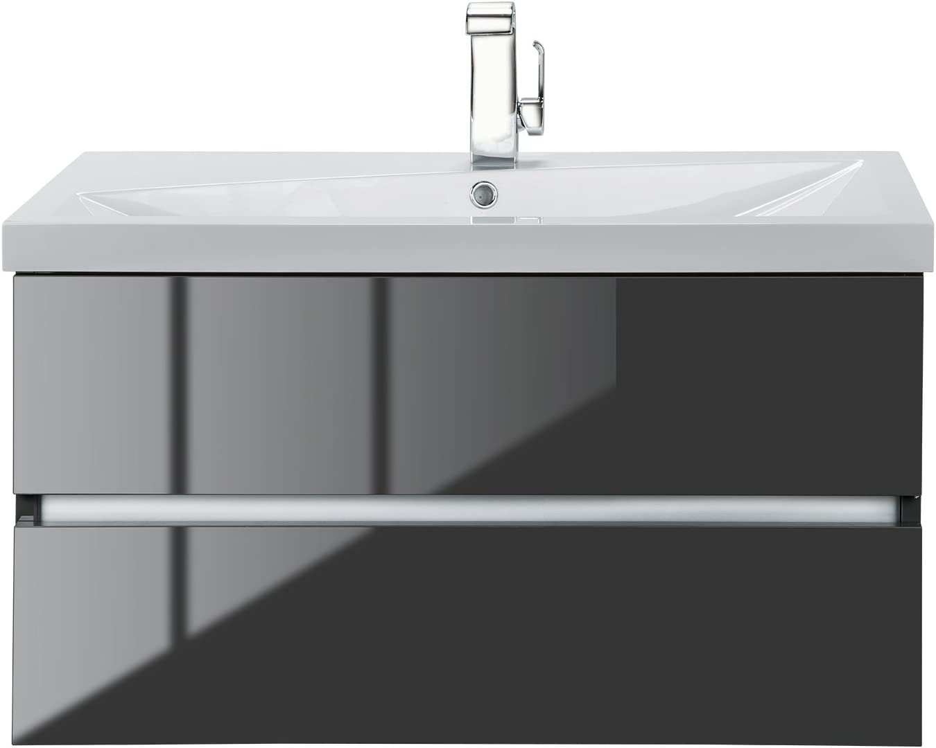 Cutler Kitchen Bath Fvlava36 Cutler Kitchen And Bath Sangallo Wall Hung Gloss Bathroom Vanity Lava Grey 36 Inches Amazon Com