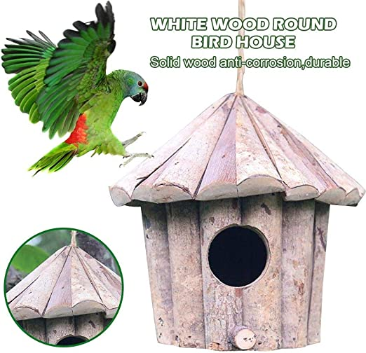 Casa del alimentador de la caja de nido de pájaros de madera, Caja de nidos for artesanías conservadoras for aves silvestres, Hotel de pájaros sólidos clásicos Estación de alimentación de mesas de