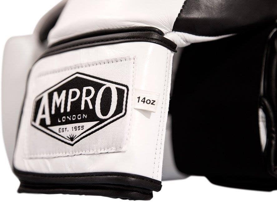 Ampro Madison MKII Gants de sparring Blanc//noir