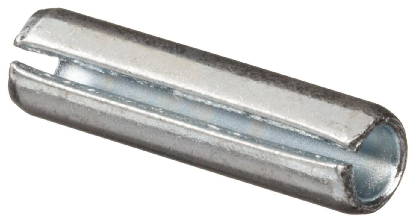 Steel Spring Pin Zinc Plated Finish 1-1//2 Length 5//32 Nominal Diameter Pack of 250