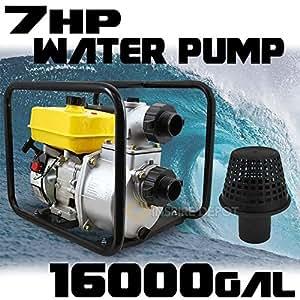 "Generic 00RPM 16000 Outlet Trash Water M 16000G 16000GPH 3"" Inlet 7HP 3600RPM 7HP 3600RPM Inlet O 4 Stroke Gasoline e Gasoline GAS Pump EPA troke Gasoline"
