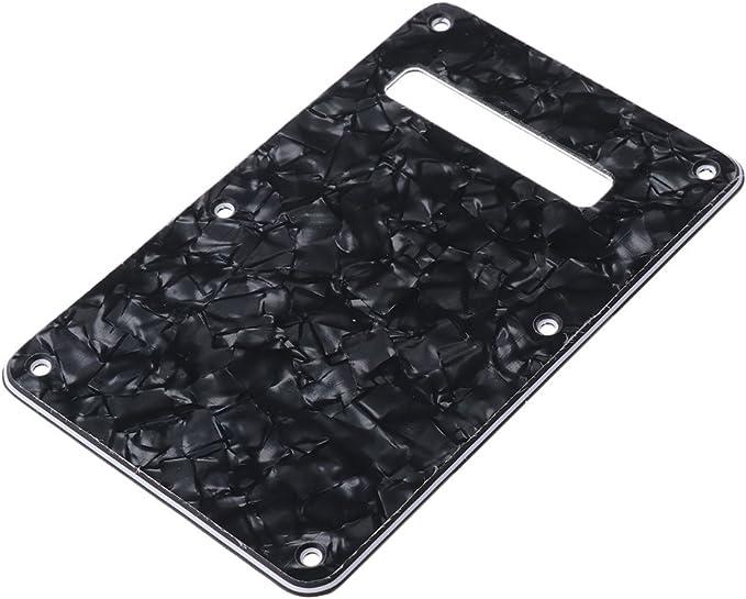 sharplace Cavidad placa trasera protectora para Fender Strat Squier St SQ S de guitarra – colores Seleccionar, Negro: Amazon.es: Instrumentos musicales