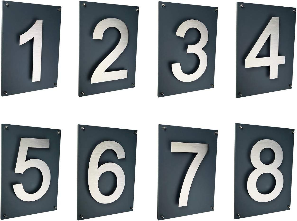 0 1 2 3 4 5 6 7 8 9 a b c carbon H/öhe 30 cm Arial XXL Gr/ö/ße 2D wetterfest rostfrei V2A im Shop 1 Hausnummer 1 Edelstahl schwarz