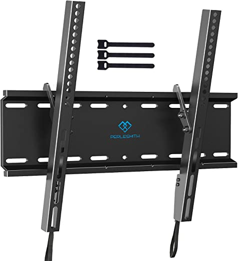 Tilting TV Wall Mount Bracket Low Profile for Most 23-55 Inch LED, LCD, OLED, Plasma Flat Screen TVs with VESA 400x400mm Weight up to 115lbs by…