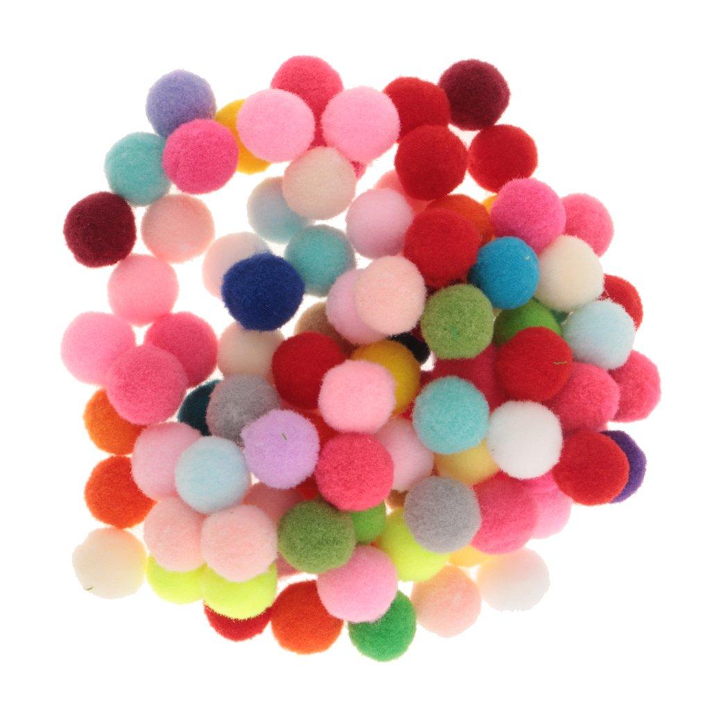 Gazechimp 100x Pompons Balles Multicoloré Peluche Doudous PomPom Boule Xmas Tree - 10mm
