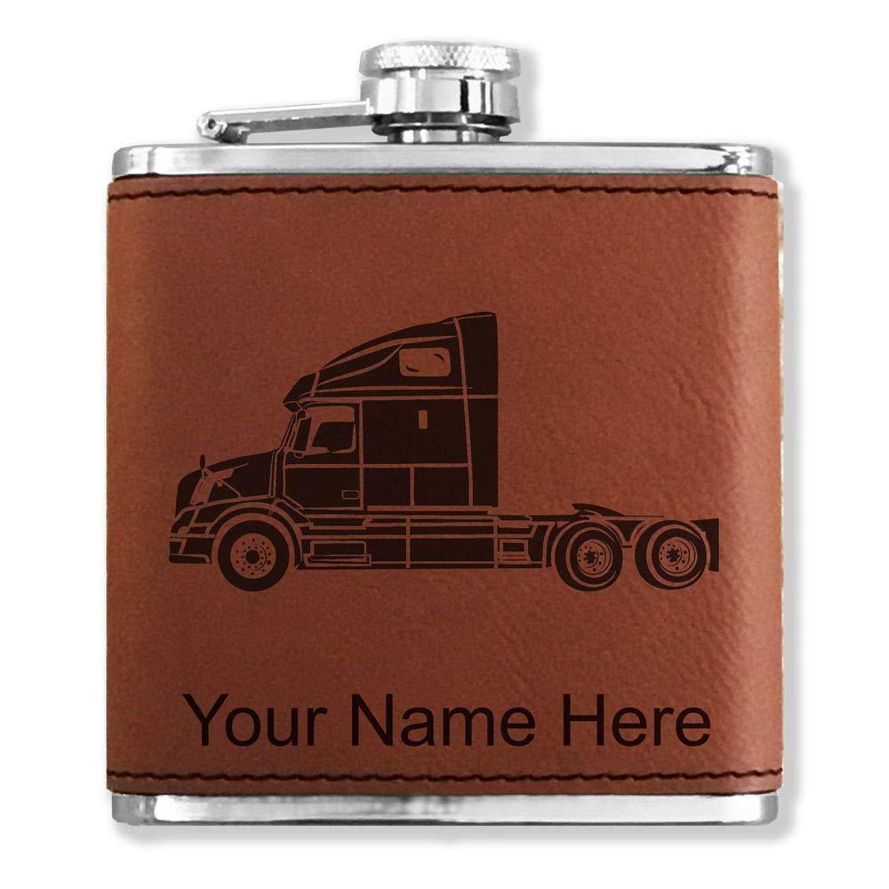 無料配達 フェイクレザーフラスコ – Truck – Cab – – カスタマイズ彫刻Included (ダークブラウン) Cab B013MAHSOU, 西洋香道:88a52c6c --- cfeedback.mycarebee.com