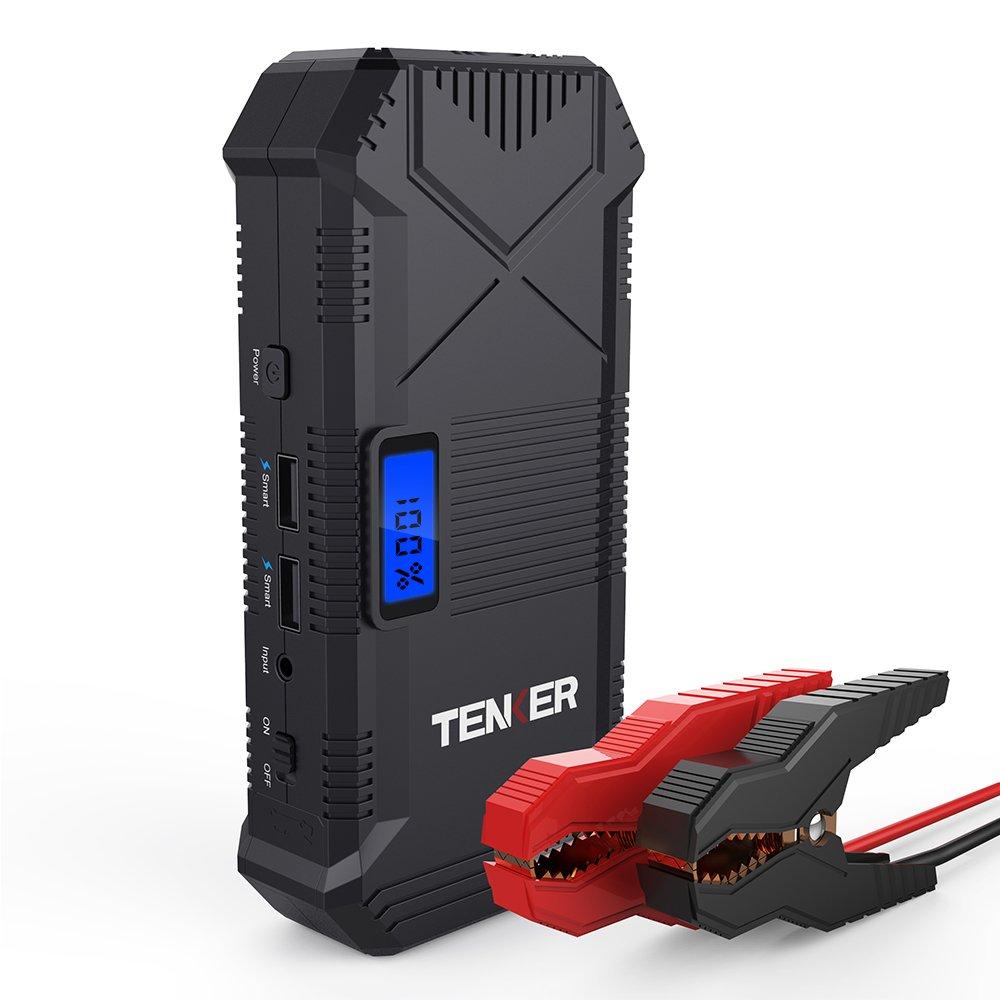 tenker 600 Aピーク14000 mAhポータブル車両ジャンプスターター自動バッテリー充電器電話ラップトップ電源銀行 B075FPRVCZ