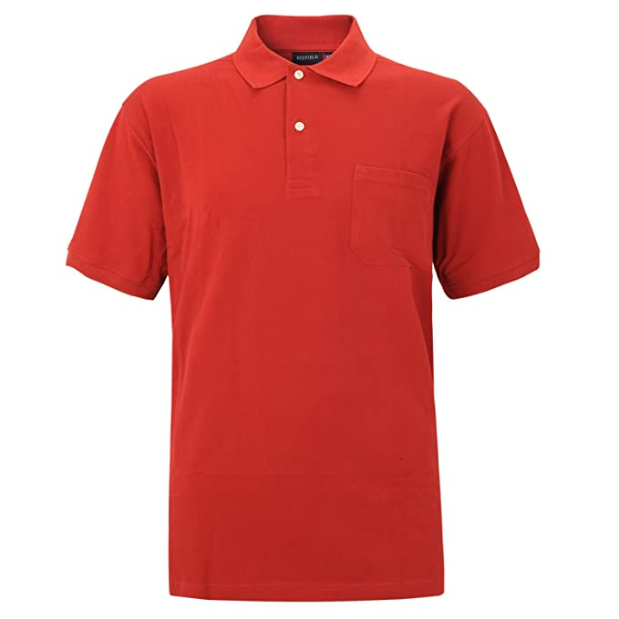 Redfield - Polo - Uni - Manches Courtes - Homme X-Large - Rouge - c58cf1c6c0f0