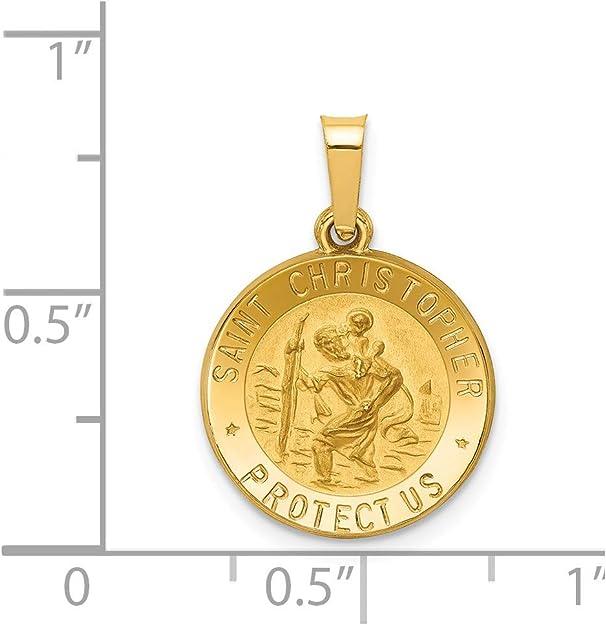 14k Yellow Gold Horse Charm Pendant 14mm x 17mm