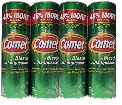 Comet Cleanser With Bleach   25 Oz  Pack Of 4