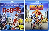 Escape from Planet Earth & Robots Blu Ray Cartoons from the creators of Ice Age Animated Set