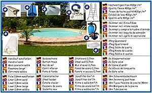 Acero Pared Mega Set de platillos redondo color arena 4,20m x 1,50m pantalla 0,8mm pool Piscina redondo Platillos redondo Pool