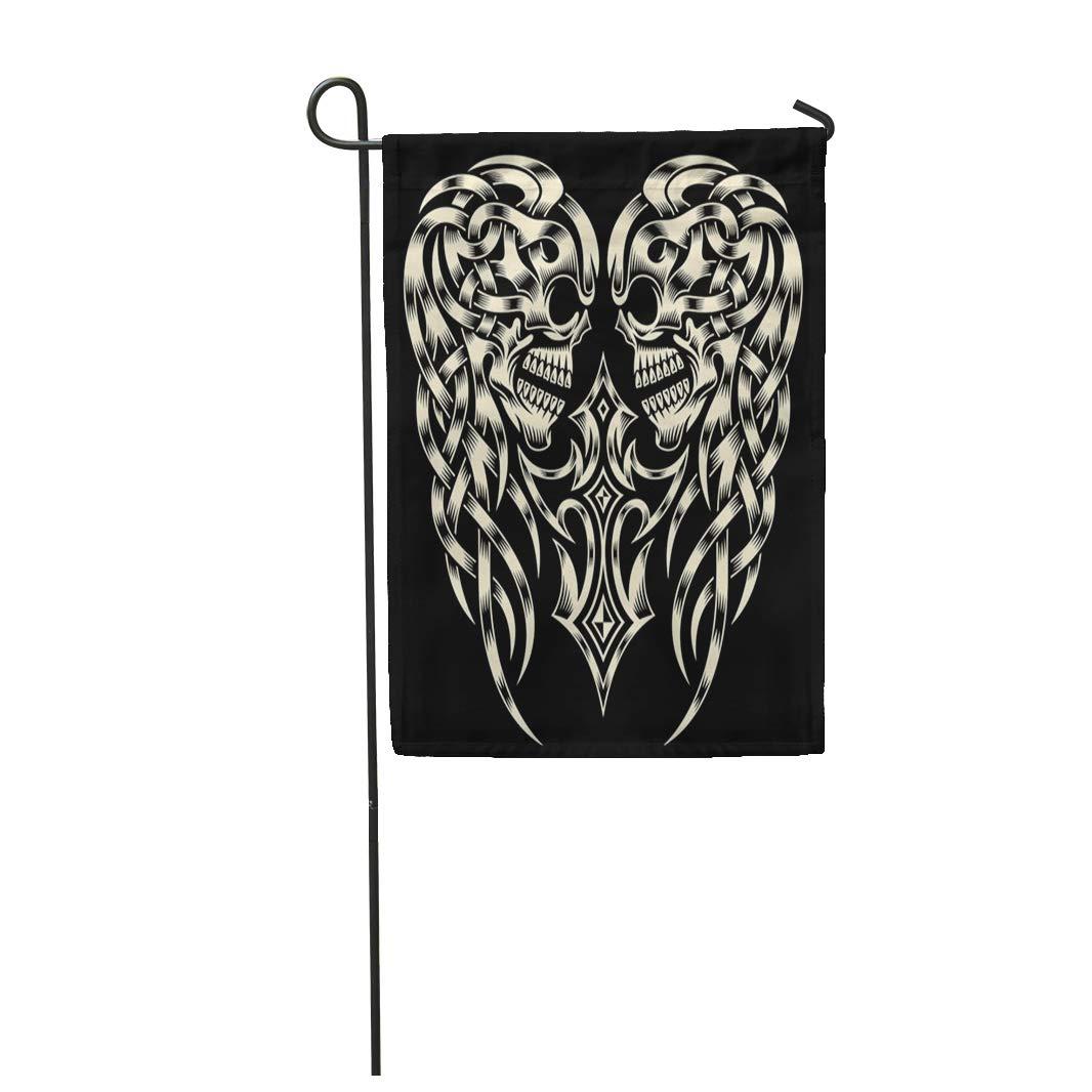 Bandera de jardín Semtomn de 12 pulgadas x 18 pulgadas, cabeza de ...