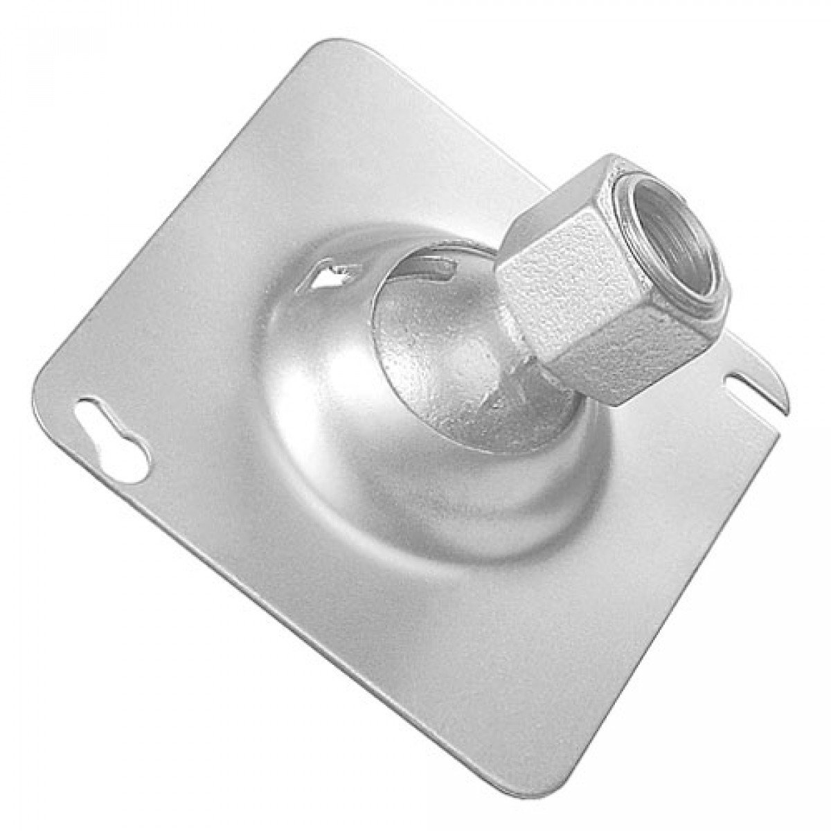 2 Pcs, Zinc Plated Steel 4 In. Square Swivel Fixture Hanger Cover for 1/2 In. Pipe to Hang Light Fixtures, Security Cameras, Speakers & Electrical/Electronic Devices
