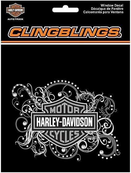 Harley-Davidson Bar /&Shield Purple Filigree Metal License Plate