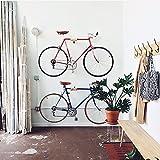 Elm and Steel Indoor Bicycle Wall Mount Hanger Rack