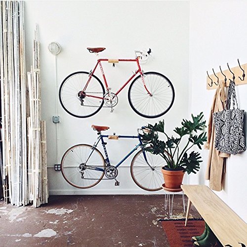 Ash and Steel Indoor Bicycle Wall Mount Hanger Rack by Well Hung Bicycles (Image #4)