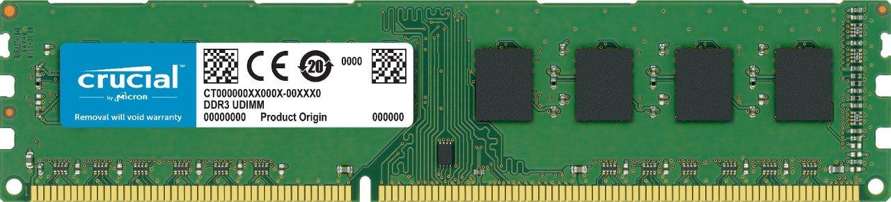 Micron CRUCIAL 4GB DDR3L DESKTOP MEMORY, 1600MHz, 1.35v/1.5v, LIFE WTY
