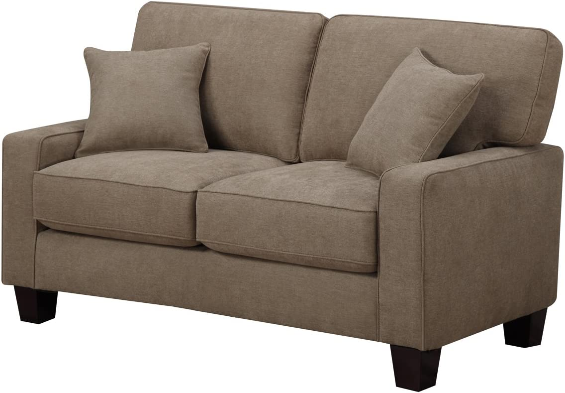Truly Home Andrew, 61 Loveseat, Tan