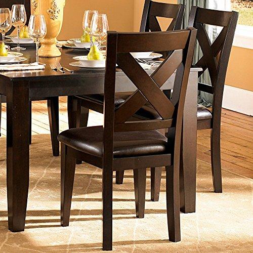 Homelegance Crown Point Side Chairs - Merlot - Set of 2 (Dining Room Set Merlot)