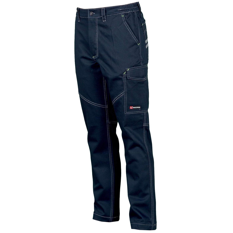CHEMAGLIETTE Pantaloni da Lavoro Uomo Cotone Elasticizzato Multi Tasche Payper Worker Stretch
