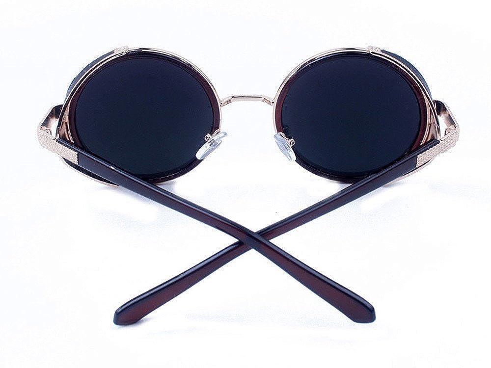 Stoota Women Men Vintage Retro Travel Sungla Glasses,Unisex Fashion Mirror Lens