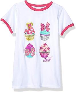 Kids Summer T-shirt Birthday Jojo Siwa Loose Casual Girl Children Heart Tops