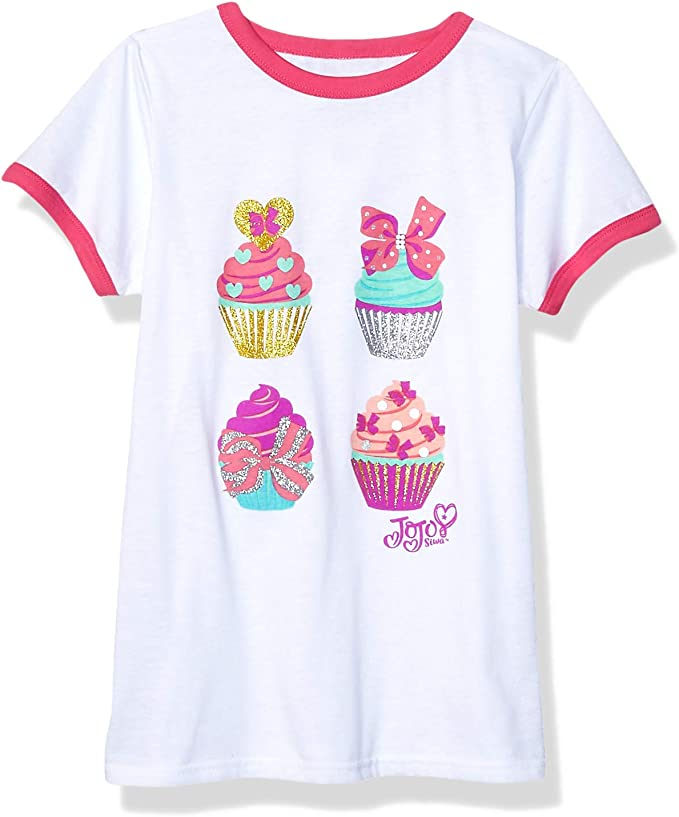 Kids/' Crew Neck Tees Cupcake Girls/' Basic Long Sleeve T Shirt Toddlers/' Cotton Essential Tops