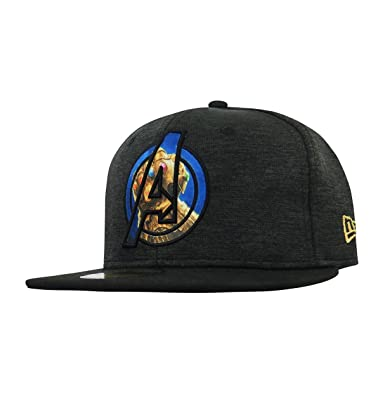 5c6598572eb New Era Avengers Infinity War Gauntlet Logo 59Fifty Fitted Hat- 7 7 ...
