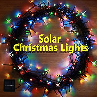 Solar Christmas Lights Multi Color 200 LED String Lights from SolarDuke™ With 8 Flashing Modes & Premium Quality Panels - Add These Cool Ambiance Lighting To Your Home For This Holiday Season!