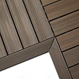 NewTechWood QD-IF-WN QuickDeck Composite Deck Tile Inside Corner Trim, 2-Inch x 1-Feet, Spanish Walnut, 2-Piece