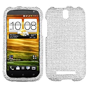 MYBAT Silver Diamante Protector Cover(Diamante 2.0) for HTC One VL