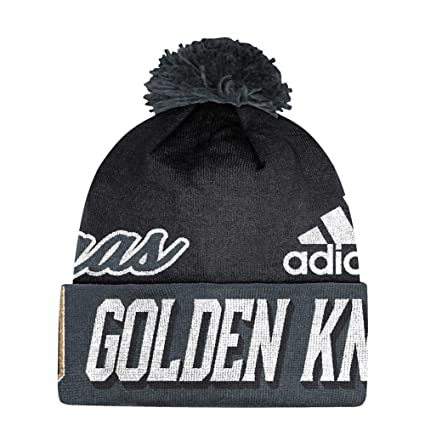 4d573d682 adidas Vegas Golden Knights NHL Cuffed Pom Knit Hat