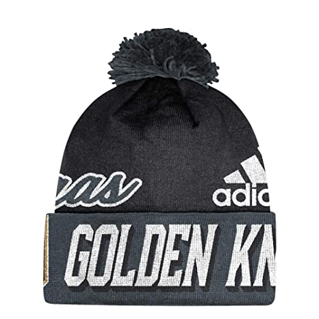 00ab19476f0 Amazon.com   adidas Vegas Golden Knights Beanie NHL Cuffed Pom Knit    Sports   Outdoors