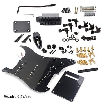 ultnice Kit Guitarra Eléctrica Golpeador protectora trasera puente sistema sistema St Kit Accesorios completo: Amazon.es: Electrónica