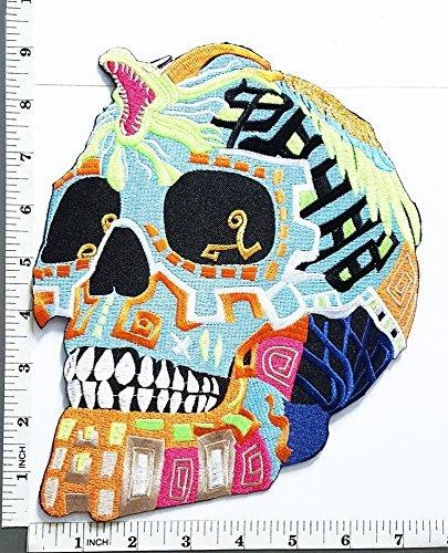 Big Jumbo Large Big Huge Jumbo King Cobra Snake Mexican Sugar Skull Awesome logo Biker patch Jacket T-shirt Sew Iron on Patch Badge Embroidery