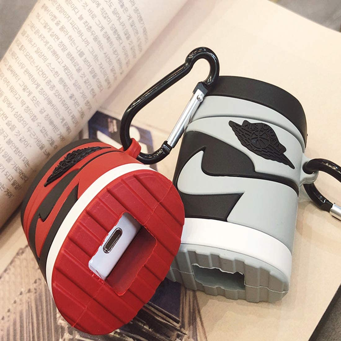 Red-j AirPods Case Protective Cover Soft Silicone Shockproof for Apple AirPods 2 /& 1 Fun Cool Design Skin for Kids Teens Boys Men
